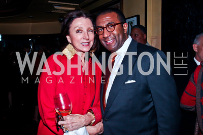 Aniko Gaal Schott, Eric Motley. Photo by Tony Powell. Cafe Milano Inaugural Celebration. January 21, 2013