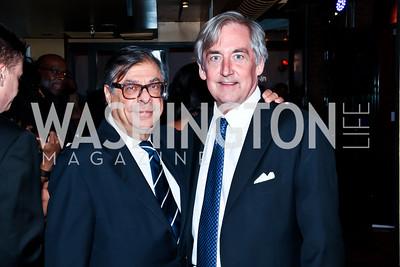 Bob Colacello, Robert Higdon. Photo by Tony Powell. Cafe Milano Inaugural Celebration. January 21, 2013