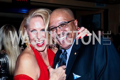 Barbara McConaghy Johnson, Donnie Shaw. Photo by Tony Powell. Cafe Milano Inaugural Celebration. January 21, 2013