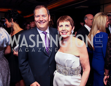 Larry Drisolano, Adrienne Arsht. Photo by Tony Powell. Cafe Milano Inaugural Celebration. January 21, 2013