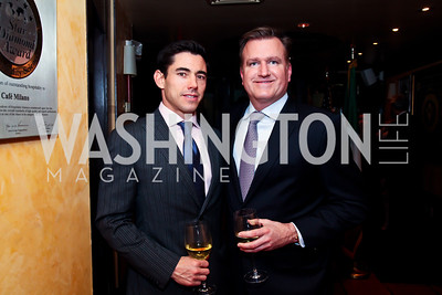Patrick Menasco, Jim Bell. Photo by Tony Powell. Cafe Milano Inaugural Celebration. January 21, 2013