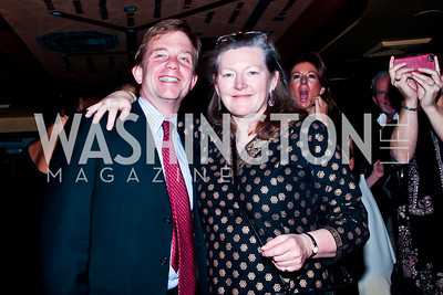 Charles Mathias, Amanda Downes. Photo by Tony Powell. Cafe Milano Inaugural Celebration. January 21, 2013