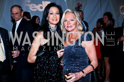Linda Awkard, Debbie Sigmund. Photo by Tony Powell. Cafe Milano Inaugural Celebration. January 21, 2013