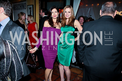 Nina Snow, Amanda Polk. Photo by Tony Powell. Cafe Milano Inaugural Celebration. January 21, 2013
