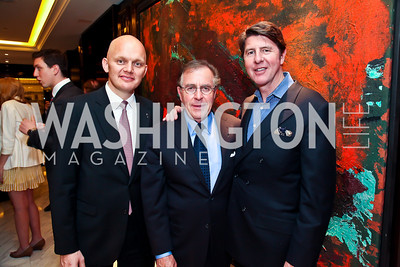 GM Alex Obertop, Horst Schulze, Bruce Bradley. Photo by Tony Powell. Capella Grand Opening. April 3, 2013