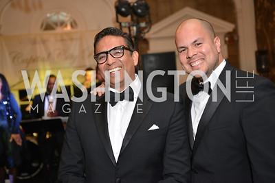 Rodolfo Lezama,  Al Guzman, Capital City Ball at the City Tavern Club.  Saturday, November 23, 2013.  Photo by Ben Droz.