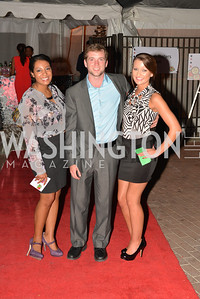 Andrea Ellingsworth, Brian Kirk, Karly Buckner, Capital for Children's Casino Night at LongvView Gallery.  Saturday, October 5, 2013.  Photo by Ben Droz