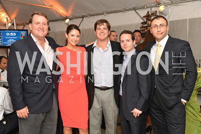 Carl MacCartee, Tina Grassi, Rex Alexander, Brian Kirschbaum, Raz Liborian, Capital for Children's Casino Night at LongvView Gallery.  Saturday, October 5, 2013.  Photo by Ben Droz