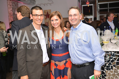 Eric Christiansen, Sandy Christiansen, Bruce Schulman, Capital for Children's Casino Night at LongvView Gallery.  Saturday, October 5, 2013.  Photo by Ben Droz