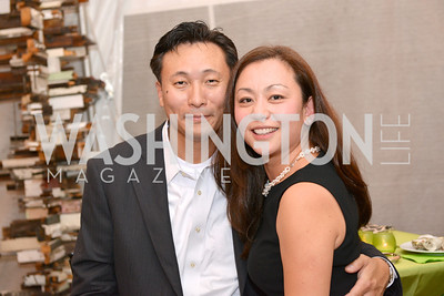 Brian Kong, Janice Kong, Capital for Children's Casino Night at LongvView Gallery.  Saturday, October 5, 2013.  Photo by Ben Droz