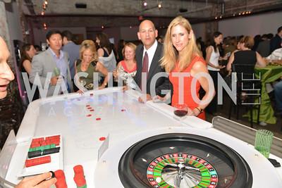 Art Vutiprichar, Spencer Barroll, Leslie Hale, Kemal Hawa, Melissa Goldate, Capital for Children's Casino Night at LongvView Gallery.  Saturday, October 5, 2013.  Photo by Ben Droz