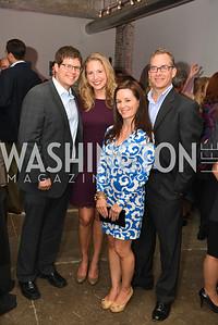 Ben Danner, Hollie Freeman,  Jennifer Valdeck, David Valdeck, Capital for Children's Casino Night at LongvView Gallery.  Saturday, October 5, 2013.  Photo by Ben Droz