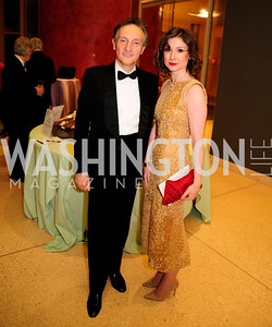Italian Amb.Claudio Bisogniero,Mariana Gray,March 2,2013,Cathedral Choral Society's Angel Of the Arts Award Gala,Kyle Samperton