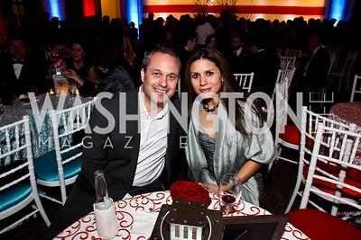 Ralph and Vanessa Renzi. Photo by Tony Powell. Catholic Charieties presents Música y Sueños. U.S. Chamber of Commerce. March 22, 2013
