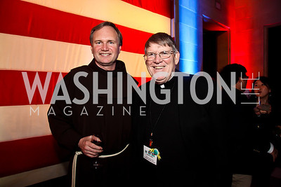 Fr. Mike Johnson, Monsignor John Enzler. Photo by Tony Powell. Catholic Charieties presents Música y Sueños. U.S. Chamber of Commerce. March 22, 2013