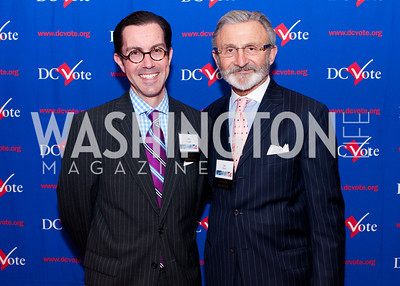 DC Vote board Chair Jon Bouker and board member Joe Perta