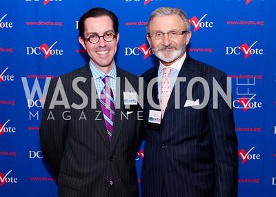 DC Vote board Chair Jon Bouker and board member Joe Perta