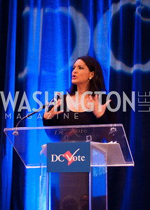 MSNBC host Karen Finney opens the award ceremony