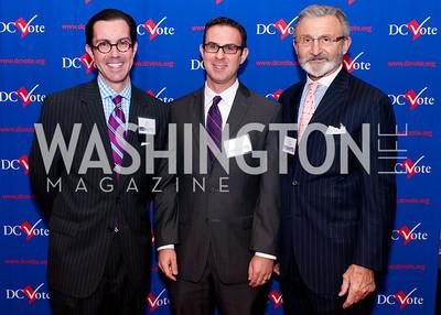 DC Vote board chair Jon Bouker, Aaron Brand and board member Joe Perta