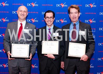 DC vote board members Ilir Zherka, Jon Bouker and Walter Smith