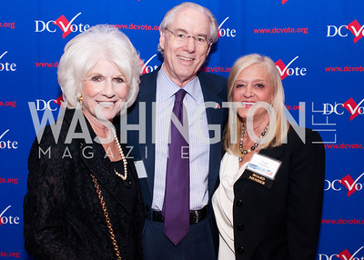 Diane Rehm, George Vradenberg and board member Trish Vradenberg