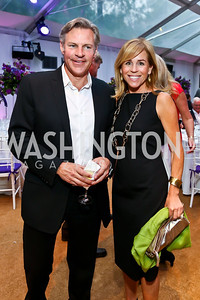 Jimmy Reyes, Page Evans. Photo by Tony Powell. CharityWorks 100 Point Vintage Wine Tasting. Mandl Residence. May 18, 2013