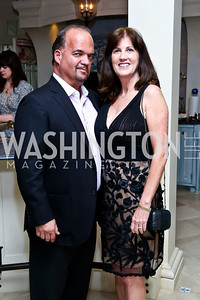 Fernando and Liz Murias. Photo by Tony Powell. CharityWorks 100 Point Vintage Wine Tasting. Mandl Residence. May 18, 2013