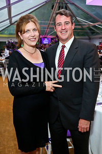 Laura and Doug Gansler. Photo by Tony Powell. CharityWorks 100 Point Vintage Wine Tasting. Mandl Residence. May 18, 2013