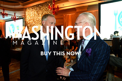 DC Council member, Jack Evans and television personality, Tim Gunn. Chefs For Equality benefit for HRC. October 30, 2013.  Photo by Neshan H. Naltchayan