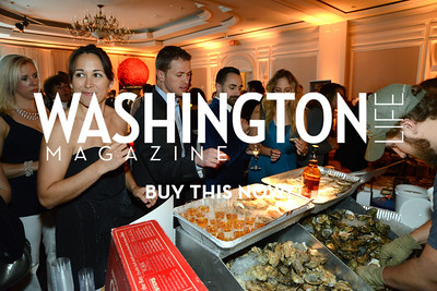 Guests enjoy oysters from Rappahannock Oyster Bar. Chefs For Equality benefit for HRC. October 30, 2013.  Photo by Neshan H. Naltchayan