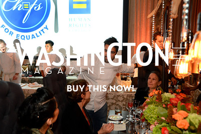 Chef Victor Albisu of Del Campo greets guests. Chefs For Equality benefit for HRC. October 30, 2013.  Photo by Neshan H. Naltchayan