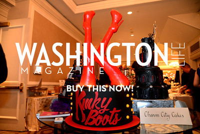 "Charm City Cakes with their ""Kinky Boots"" theme cake. Chefs For Equality benefit for HRC. October 30, 2013.  Photo by Neshan H. Naltchayan"