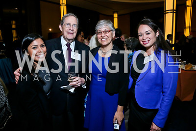 Jackie Zamarripa, Peter Edelman, Judith Sandalow, Ally Zamora. Photo by Tony Powell. Children's Law Center Helping Children Soar Benefit. Kennedy Center. September 17, 2013