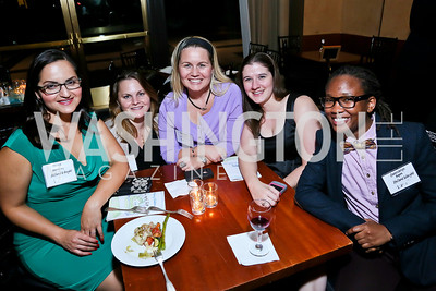 Oliya Zamaray, Tory Burk, Lauren Jenkins, Michelle Evans, Gwendolyn Rogers. Photo by Tony Powell. Children's Law Center Helping Children Soar Benefit. Kennedy Center.JPG