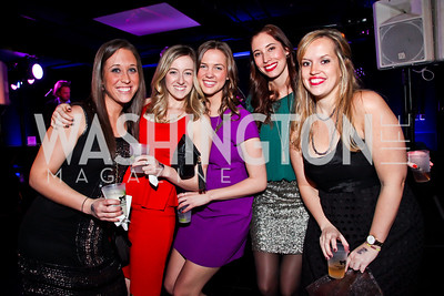 "Anna Ciacotta, Caroline O'Hara, Katelin Mikuta, Susan Harrison, Gina Troiano. Photo by Tony Powell. Children's National Junior Council ""Dancing After Dark."" House of Sweden. January 26, 2013"