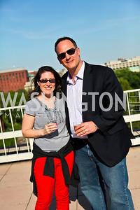 Tara Greco, Ray Kimsey. Photo by Tony Powell. Cocktails with 826 DC. Kimsey Foundation. April 26, 2013