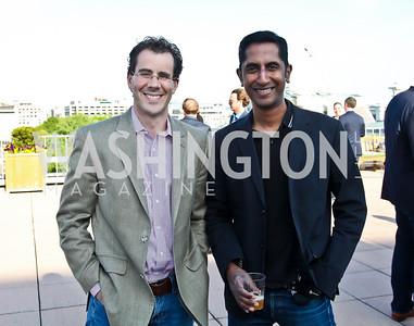 Josh Alcorn, Ravi Anne. Photo by Tony Powell. Cocktails with 826 DC. Kimsey Foundation. April 26, 2013