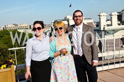 Dillon Babington, Kira Wisniewski, Evan McGrew. Photo by Tony Powell. Cocktails with 826 DC. Kimsey Foundation. April 26, 2013