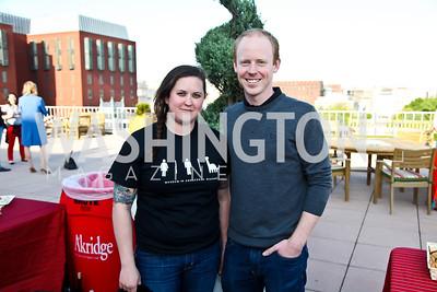 Dana Carlson, Jimmy Keith. Photo by Tony Powell. Cocktails with 826 DC. Kimsey Foundation. April 26, 2013