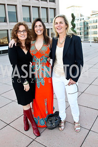 Jane Delury, Jessica Anya Blau, Fran Brennan. Photo by Tony Powell. Cocktails with 826 DC. Kimsey Foundation. April 26, 2013