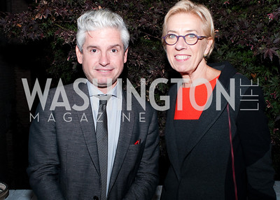 Party host and Author David Brock and Ana Burger