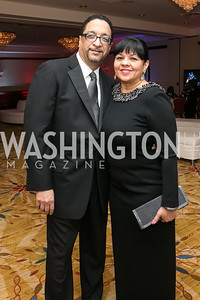 Clyde McQueen,  Gerri McQueen. Photo by Alfredo Flores. Congressional Black Caucus Foundation Inaugural Gala & Celebration. Capital Hilton Hotel. January 21, 2013.