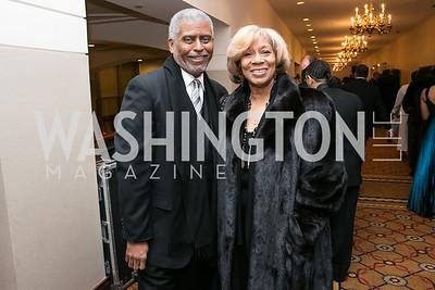 Dwayne Crompton, Freda Crompton. Photo by Alfredo Flores. Congressional Black Caucus Foundation Inaugural Gala & Celebration. Capital Hilton Hotel. January 21, 2013.