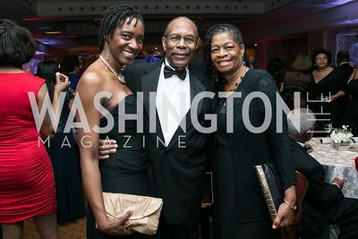 Kadija Bangura, Dwight Ellis, Patricia Richardson. Photo by Alfredo Flores. Congressional Black Caucus Foundation Inaugural Gala & Celebration. Capital Hilton Hotel. January 21, 2013.