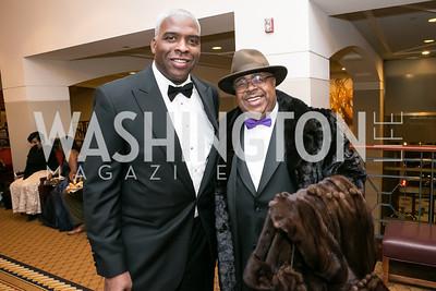 Kenneth Martin, Keith McKnight. Photo by Alfredo Flores. Congressional Black Caucus Foundation Inaugural Gala & Celebration. Capital Hilton Hotel. January 21, 2013.