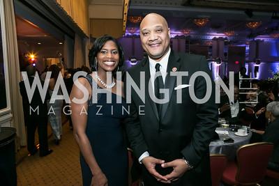 Mariana Carson, Rep. André Carson. Photo by Alfredo Flores. Congressional Black Caucus Foundation Inaugural Gala & Celebration. Capital Hilton Hotel. January 21, 2013.