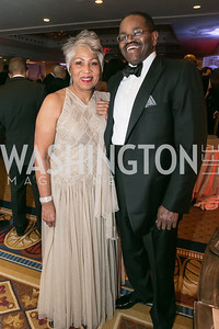 Linda Washington, Frederick Douglas. Photo by Alfredo Flores. Congressional Black Caucus Foundation Inaugural Gala & Celebration. Capital Hilton Hotel. January 21, 2013.
