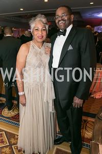 Linda Washington, Frederick Douglas. Photo by Alfredo Flores. Congressional Black Caucus Foundation Inaugural Gala & Celebration. Capital Hilton Hotel. January 21, 2013.