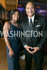 Mariana Carson, Rep. André Carson. Photo by Alfredo Flores. Congressional Black Caucus Foundation Inaugural Gala & Celebration. Capital Hilton Hotel. January 21, 2013.