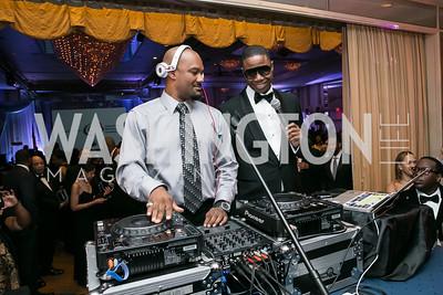 Big Tigger, Doug E. Fresh. Photo by Alfredo Flores. Congressional Black Caucus Foundation Inaugural Gala & Celebration. Capital Hilton Hotel. January 21, 2013.
